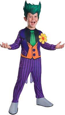 Boys Arkham The Joker DC Comic Cartoon Book Day Week Fancy Dress Costume Outfit
