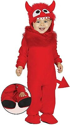 Baby Mädchen Jungen Roter Teufel süß Halloween Kostüm Kleid Outfit 6-24 (Baby Teufel Kostüm Halloween)