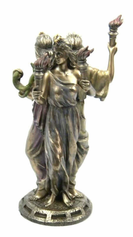 8.25 Inch Hecate Hekate Greek Goddess of Magic Voodoo Pagan Wiccan Statue Magick