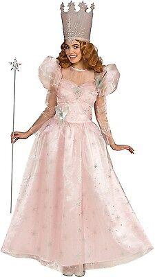 Ladies Long Glinda The Good Wizard Of Oz Witch Fancy Dress Costume Outfit (Damen Wizard Of Oz Kostüm)