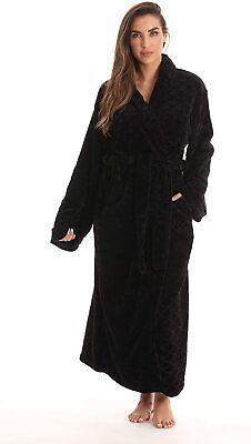Just Love Velour Kimono Robe Hooded Bath Robes for Women Maxi Length Hooded Kimono Robe