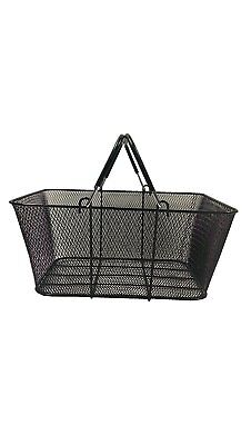 Black Wire Mesh Shopping Basket 6 Pack