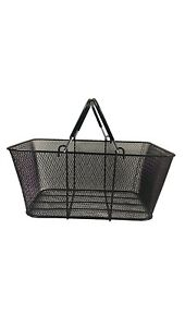 Black Wire Mesh Shopping Basket (6 Pack)