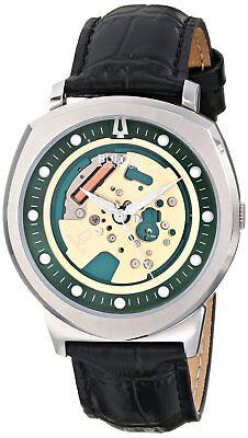 Bulova Accutron II Men's 96A155 Alpha Quartz Skeleton Dial Black Band 43mm Watch