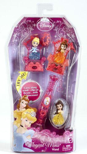 Mattel Disney Magical Minis Wand Light Up Princesses Collect- Cinderella  Belle