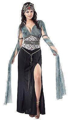 Damen Sexy Dunkel Medusa Griechische Mythologie Göttin Kostüm Kleid Outfit - Medusa Göttin Kostüm