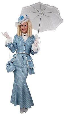 Damen Deluxe Blau Reich Viktorianische Dame 1920s Kostüm - Reiche Viktorianische Dame Kostüm
