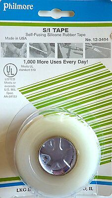 Philmore 12-3404 Self-fusing Silicone Rubber Emergency Repair Tape Clear