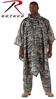 Acu Digital Camouflage Army Rip-Stop Tactical Military Hooded Rain Poncho (Camouflage Ripstop Nylon Poncho)