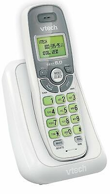 VTech CS6114 DECT 6.0 Cordless Phone with Caller ID/Call Waiting, White/Grey Dect Call Waiting Cordless Phones