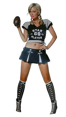 Football Costume For Women (Women's Star Football Player Sexy Adult Costume XS)