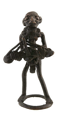 Figure, Figure African Bronze, Old-Zither-Art African-Af 1099