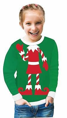 Elf Green Funny Christmas Holiday Ugly Fancy Dress Up Child Costume - Elf Dressing Up Costume