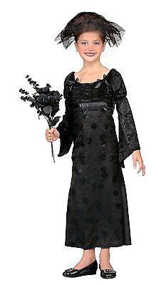 Black Widow Child Costume - Dark Bride Costume - Size Medium (8-10) New!