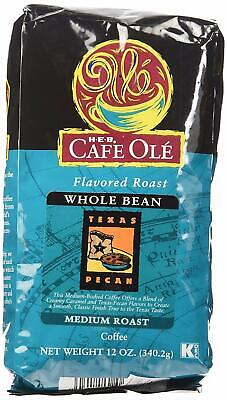 - HEB Cafe Ole Texas Pecan Coffee Whole Bean 12-Ounce Bags 2 Pack