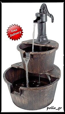 Garden Water Traditional Style Feature Pump Outdoor Patio Ornament Yard NEW