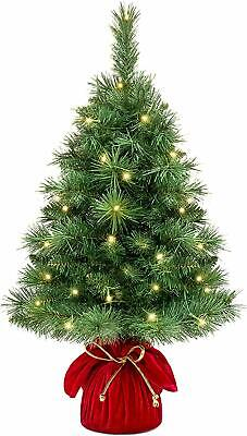 Best Choice Products 26-inch Pre-Lit Tabletop Fir Artificial Christmas