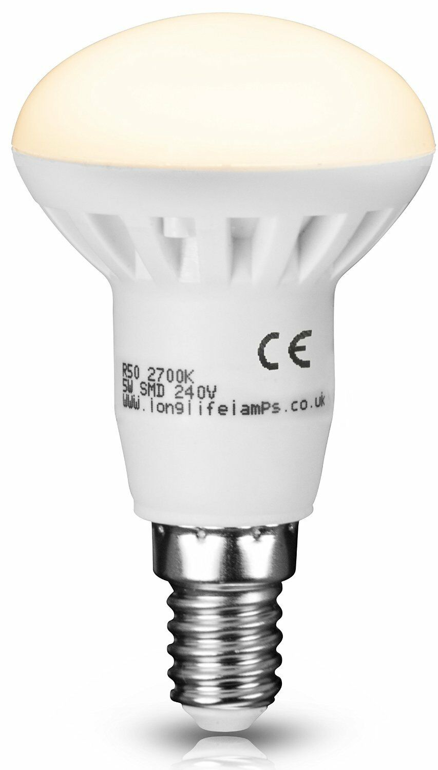 r50 led 5w e14 replacment for reflector r50 light bulb energy saving 400 lumens ebay. Black Bedroom Furniture Sets. Home Design Ideas