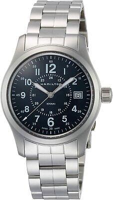 Hamilton Men's H68201143 Khaki Field 38mm Blue Dial Stainless Steel Watch