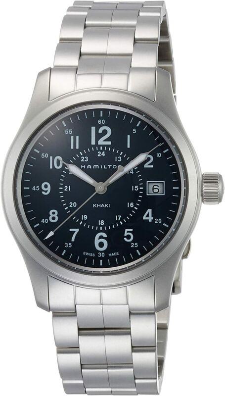 Hamilton-Men-H68201143-Khaki-Field-38mm-Blue-Dial-Stainless-Steel-Watch