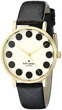 Kate Spade Women's Metro 1YRU0107 Black Leather Quartz Watch