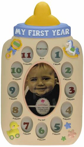 Fashioncraft My First Year Baby Bottle Collage Frame