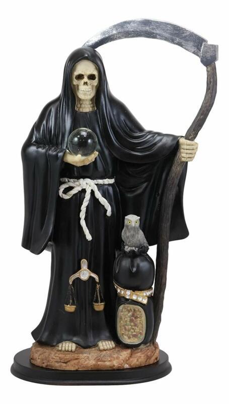 "Ebros Gift Large 16.75"" Tall Holy Death Santa Muerte Holding Scythe"