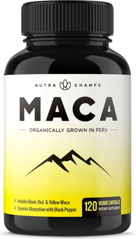 Organic Maca Root Powder Capsules - Energy, Performance & Mo