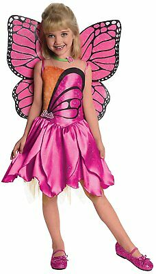Mariposa Barbie Fairy Princess Fancy Dress Up Halloween Deluxe Child (Deluxe Barbie Kostüm)