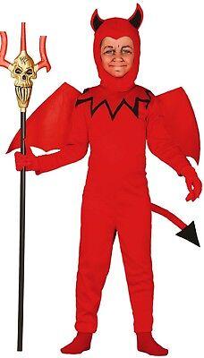 Jungen Roten Teufel Dämon Hölle Halloween Horror Kostüm Kleid Outfit 3-12 Jahre (Jungen Teufel Kostüme)
