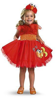 SESAME STREET'S FRILLY ELMO RED ORANGE YELLOW TODDLER HALLOWEEN COSTUME SIZE - Elmo Halloween Costume 2t