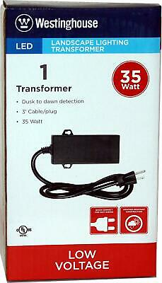Westinghouse 35 Watt Transformer Low Voltage Landscape Lighting with Dusk 2 Dawn
