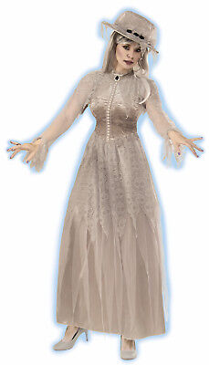 Adult Spooky Spirit Haunted Mansion Victorian Ghost Bride Halloween Costume](Bride Halloween Costume)