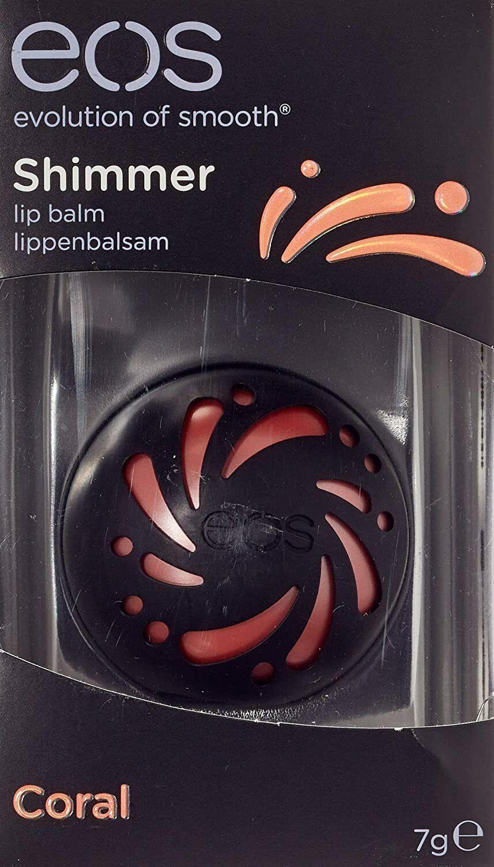 eos Shimmer Coral Lip Balm,feuchtigkeitsspendende Lippenpflege