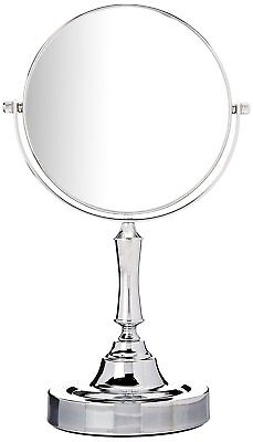 Sagler Vanity Mirror Chrome 6-inch Tabletop Two-Sided Swivel with 10x Magnificat