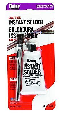 Oatey Lead Free Instant Solder Kit With Flux Brush 1.5 Oz. Solder Flux Combo