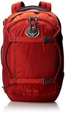 Osprey Porter Travel Backpack Bag, Hoodoo Red, 46-Liter - Carry On Ready