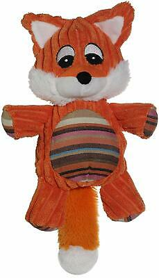 NEW! FOX DOG TOY CORDUROY PLUSH BUDDY w SQUEAKER 10