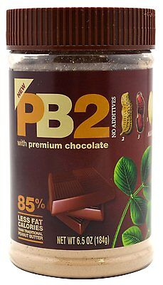 PB2 POWDERED PEANUT BUTTER 6.5 OZ - CHOCOLATE by Bell Planitation 3 PACK