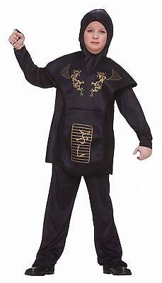 Forum Novelties Black Ninja Costume, Child Large NEW](Black Ninja Costumes)