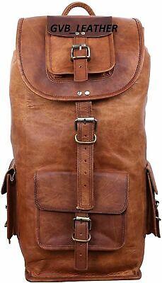 Travel Top Shop Bag Men's Real Leather Backpack Laptop Travel Hiking Adventure covid 19 (Top Laptop Backpacks coronavirus)