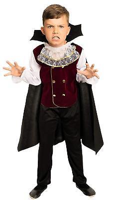 Halloween Kostüme Vampir Kinder (Royal Vampir Kostüm Kinder Jungen - komplettes Halloween Vampirkostüm - KM076)