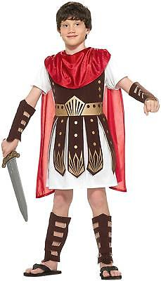 Roman Warrior Gladiator Soldier Empire Fancy Dress Halloween Child Costume - Childrens Roman Soldier Costume
