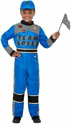 Halloween Racing Suits (Boys Racer Costume Race Car Driver Suit Hat Child Toddler Kids Halloween S M)