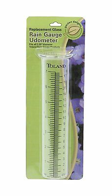 Toland Home Garden Glass Replacement Decorative Rain Gauge Statue Tube Udometer
