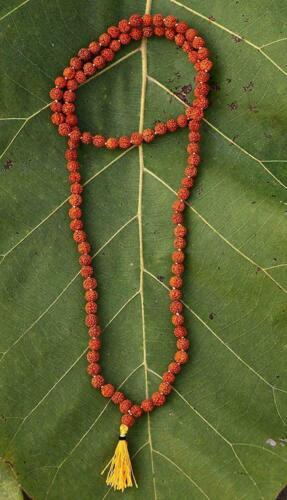 108+1 beads Very small SMALLEST and rare Rudraksha mala of Hindu Puja prayer