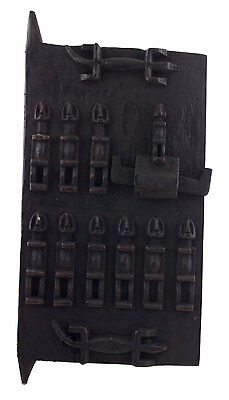 Door Dogon Grenier millet Mali 60x 30 cm - Flap box- Art african - 6399