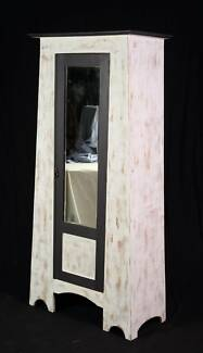 Shabby chic painted Antique wardrobe,DELIVERY AVAILABLE
