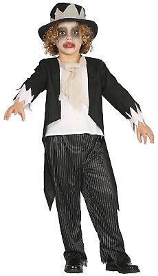 Jungen Geist Bräutigam Tot Leiche Halloween Kostüm Kleid Outfit 5-12 Jahre