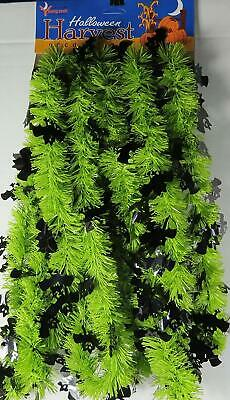 Halloween In The Usa (Made in The USA -Halloween Green Garland with Black Bats-15 Feet)